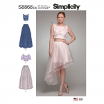 Misses` Overlay Skirts with Top, Simplicity Pattern #S8868
