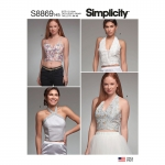 Misses` Lined Tops, Simplicity Pattern #S8869