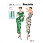 Naiste vintage kleit ja õlasall, Simplicity Pattern #S8876
