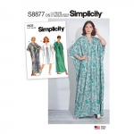Misses` Caftan, Sizes: OS (ONE SIZE), Simplicity Pattern #S8877