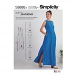 Naiste disainihäki-kleit, suurused: A (XXS-XS-S-M-L-XL-XXL), Simplicity Pattern #S8888