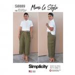 Naiste särk ja laiasäärelised püksid, Simplicity Pattern #S8889