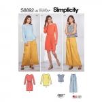 Naiste Casual spordiriided, Simplicity Pattern #S8892