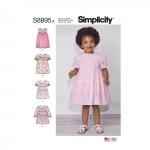 Mudilaste kleidid, suurused: A (1/2-1-2-3-4), Simplicity Pattern #S8895