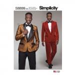 Meeste smokingid, püksid ja kikilips, Simplicity Pattern #S 8899