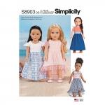 45cm pikkuse nuku riided, Simplicity Pattern #S8903