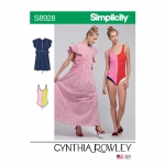 Misses` Swimsuit and Caftans by Cynthia Rowley, Simplicity Pattern #S8928