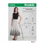 Naiste seelik võimalustega disainihäkiks, suurused: XXS-XS-S-M-L-XL-XXL, Simplicity Pattern #S8929