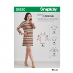 Misses` Top with Options for Design Hacking, Sizes: XXS-XS-S-M-L-XL-XXL, Simplicity Pattern #S8930
