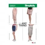 Trikooseelikud, suurused: XXS-XS-S-M-L-XL-XXL, Simplicity Pattern #S8931