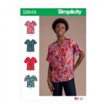 Misses` Blouses, Simplicity Pattern #S8949
