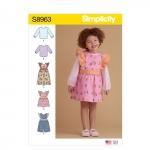 Mudilaste riietus, suurused: 1/2-1-2-3-4, Simplicity Pattern #S8963