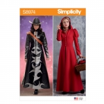 Misses` Cosplay Coat Costume, Simplicity Pattern #S8974