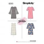 Naiste ja väikesekasvuliste Petite-naiste kleidid, Simplicity Pattern #8293