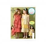 Girls`/Dolls` Dresses, Kwik Sew K0144