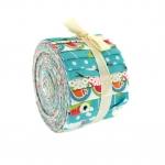 Kangaribade komplektid lapitehnikaks, Mini Jelly Rolls Strippers, Freedom, Christmas Characters, 6 cm x 108 cm, väiksem rull