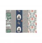 Kangakomplektid lapitehnikaks, Fat Quarter, Lewis & Irene, Harbour Side, 46 cm x 57 cm ( 18` x 22`), 5 kangatükki komplektis