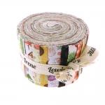 Kangaribade komplektid lapitehnikaks, Mini Jelly Rolls Strippers, Lewis & Irene, Small Things On The Farm, 6 cm x 108 cm