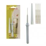 Одноигольный инструмент для валяния, фелтинга с 6 запасными иглами, SKC FN-009