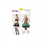 Toatüdruku ja arlekiini kostüümid nr 32-42; Burda 2354