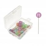 Flower Head Pins; ~50 pcs, 45,5 mm, ø0,6 mm, KL1959