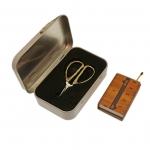 Miniatuursed `bambus`pidemega käsitöökäärid, reisikäärid, 5,8 cm, KL1976