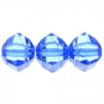 Suurte tahkudega, ümara vormiga kristall 20 x 22 mm