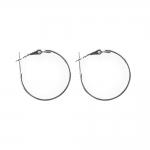 Kõrvarõnga toorikud kinnitushaagiga; 2tk / Round Loop Earring Ear Wire; 2pc / 25mm
