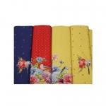 Tihaste ja lillekestega, veniv puuvillasegu kangas, 11866, 150cm, Stenzo textiles