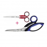 Многофункциональные ножницы, 22 см + втарая пара 15 см безплатно, Finny (Kretzer, Solingen) 772020, 782015