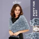 Pehme aasadega lõng Puffy Fur, Alize