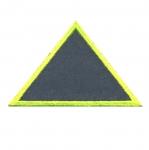 Helkur-aplikatsioon, triigitav; Kolmnurk / Iron-on Reflective Patch / 9,5x6cm