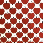 Õunamustriga, veniv, ökopuuvillane kangas, Finlayson 129.202, 152cm