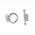 Toggle Clasp with Three Loops / 16 x 11,5mm