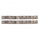 Kandilised tahulised triigitavad dekoratiivkivid, 8mm, 20tk pakis