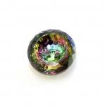 Ümar kristallilaadne akrüülnööp 18mm, 28L
