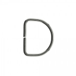 D-ring, half ring for tape width: 15 mm