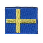 Embroidered Iron-On Patch; Small Swedish Flag / 4 x 3cm