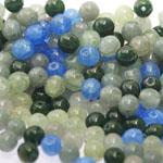 Pärlisegu Rohekas-sinistes toonides pärlitest 6mm, 100/50g pakk