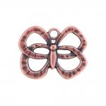 Metallist, liblikakujuline, aasataolise auguga, suuruses 33x25x4mm