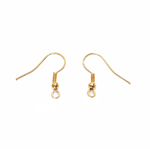 Brass Earring Hooks; 2pc / 18 x 0,5mm
