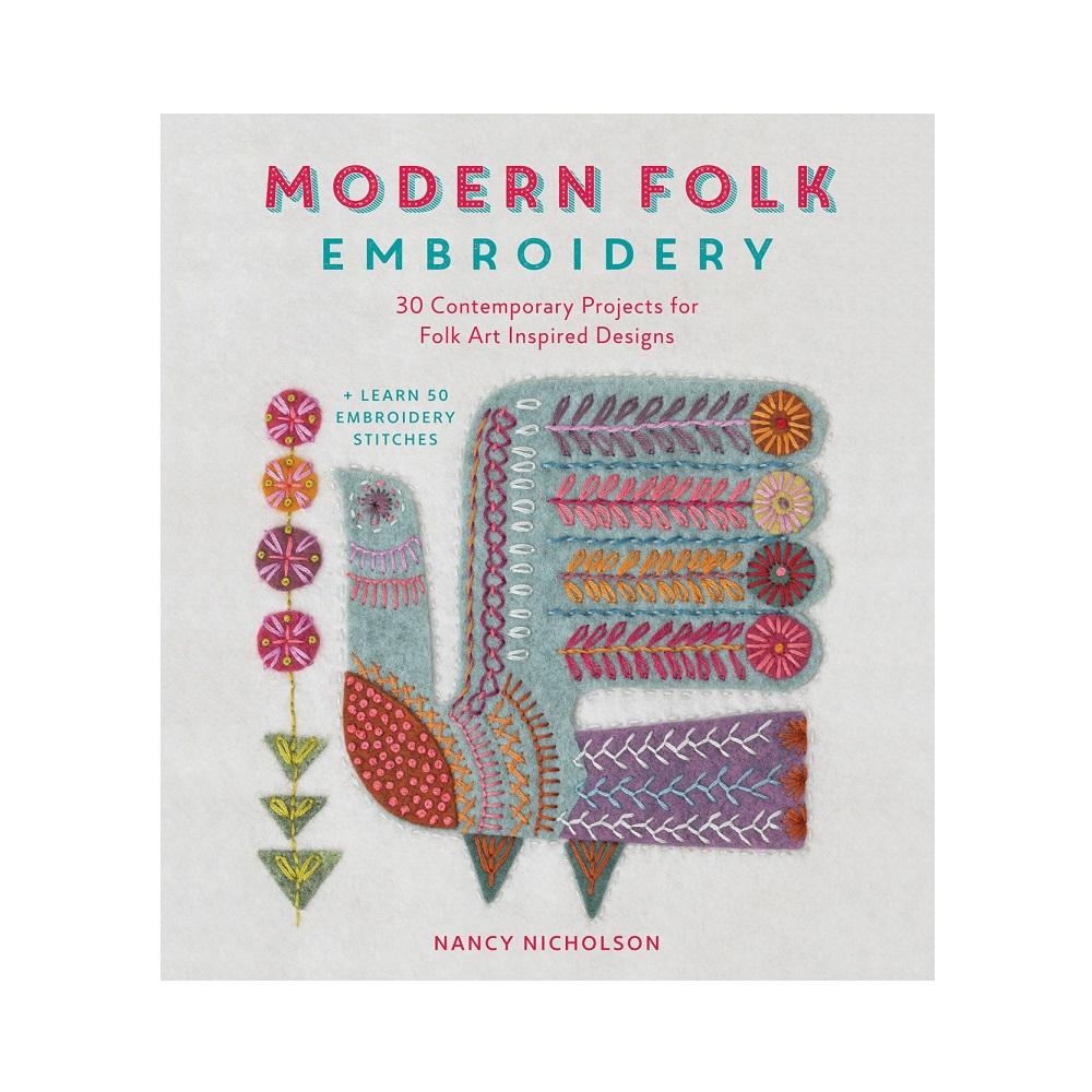 Raamat `Modern Folk Embroidery`