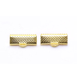 Cord End C-Crimp, Dimple Pattern; 2pc / 16 x 7mm