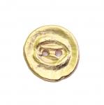 Metallist, kuldne, reljeefse mustriga, nööp 22mm, 34L