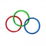 Värviline topelt metallrõngas, võtmerõngas / Split Rings, 30mm