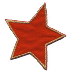 Embroidered Iron-On Patch; Red Star / 6 x 6cm