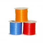 Kiuline kumm kandilise vormiga värviline, Square Elastic Beading Cord, 0,6mm; ca.35m