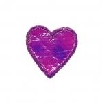 Triigitav Aplikatsioon; Väike sädelev süda/ Embroidered Iron-On Patch; Heart / 3,5x3cm