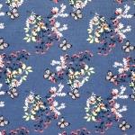 Liblikatega ja lilledega, veniv, puuvillane kangas, Megan Blue Fabrics 007253, 150cm/220g