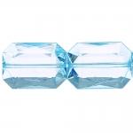 Ristkülikukujuline, tahuline lapik akrüülkristall 30 x 22 x 10mm